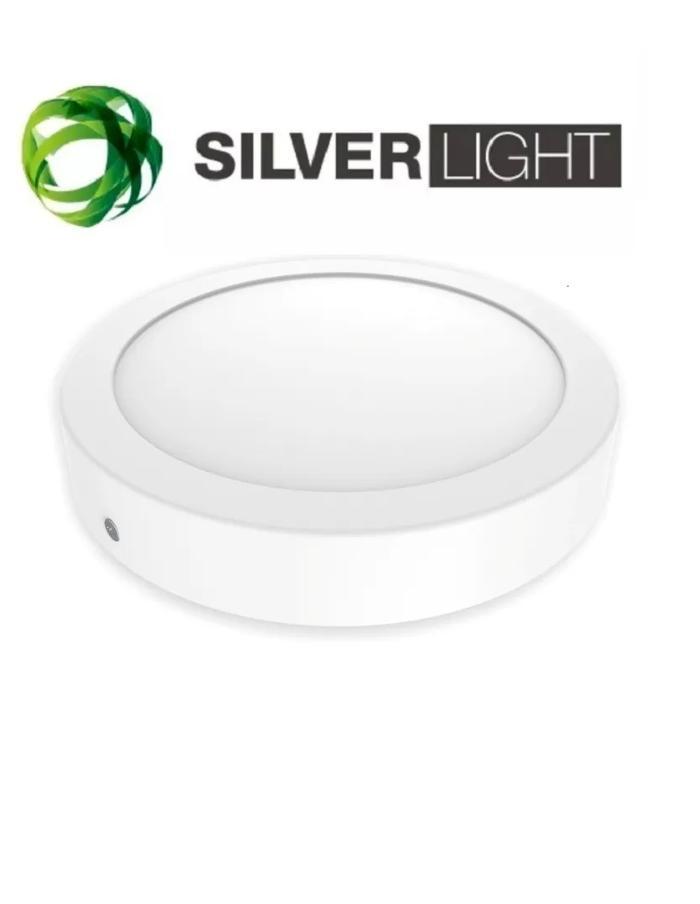 Panel LED 12W redondo superficial luz cálida SILVERLIGHT blanco