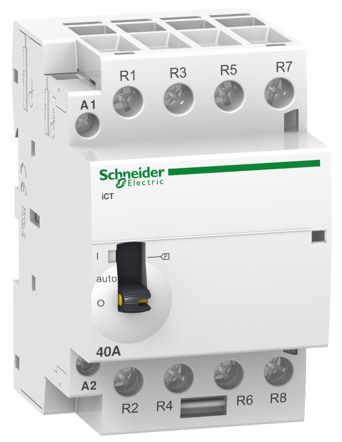 Contactor Mando Manual Acti9 iCT 63A 4NA 230Vca Schneider