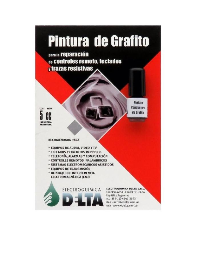 Pintura Conductora de Grafito Delta 5cm³