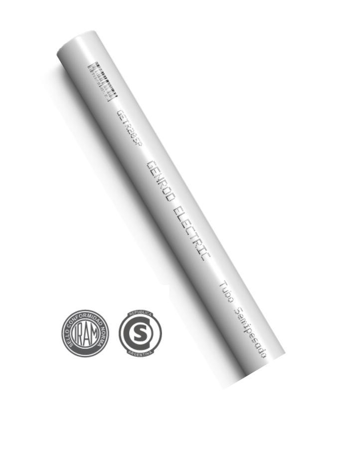 "Caño PVC Rígido Semipesado 5/8"" 3 Metros Genrod"