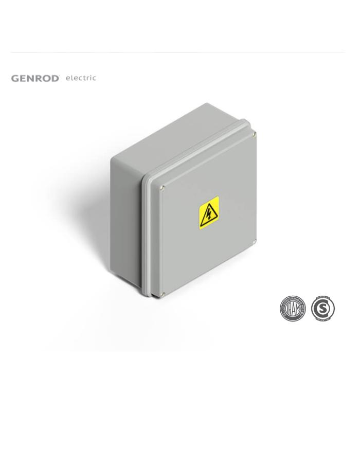 Caja de Paso Exterior Estanca IP65 115x115x110mm Genrod