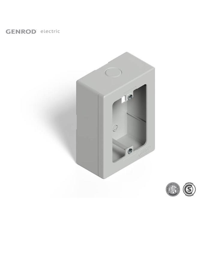 Caja Rectangular PVC para Sobreponer Genrod blanca