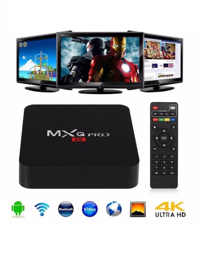 Android TV Box MXQ Pro 7.1 4K con control remoto