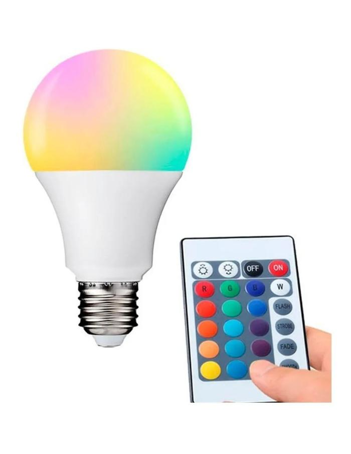 Bulbo LED A60 RGB con Control Remoto 9W E27 Industrias Sur