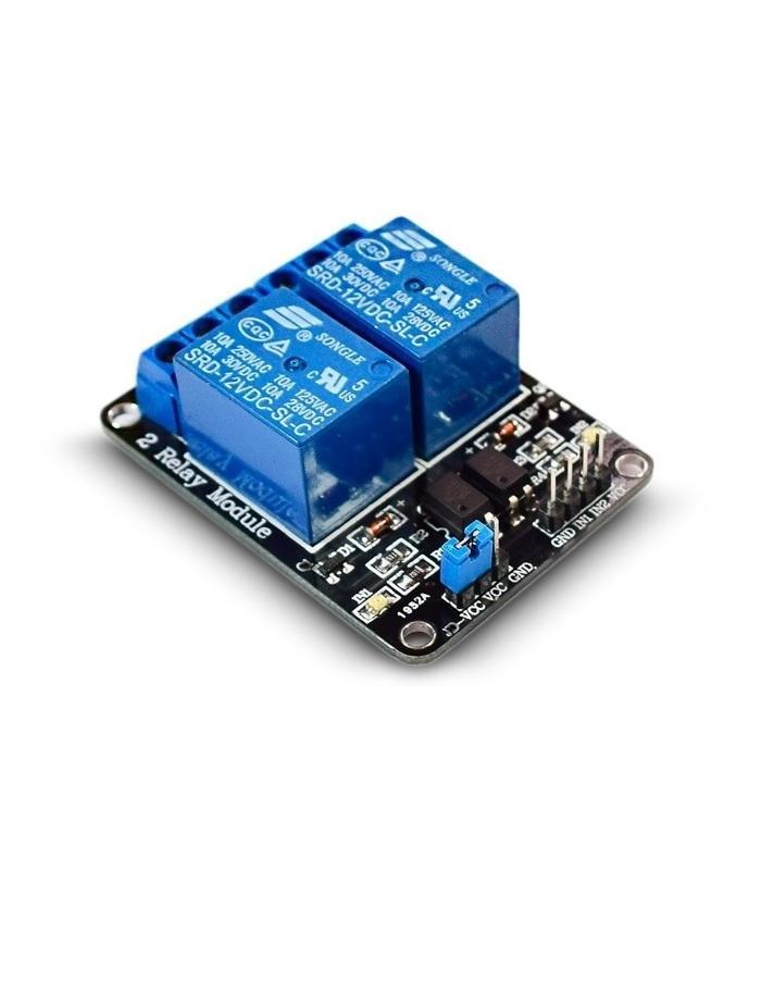 Módulo relé 2 vías opto 5V 10A para Arduino